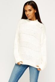 Eyelash Knit High Neck Jumper One Size 8-14