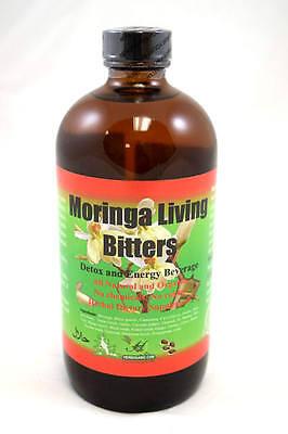 Wellness Beverage - Moringa Living Bitters Real Bitter Energy Detox Health Herb Beverage 16 oz