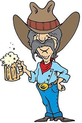 30 Custom Drunk Cowboy Personalized Address Labels