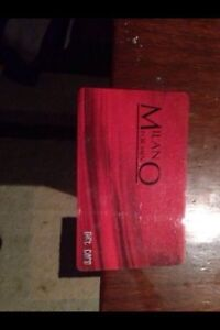 350.00$ Milano For Men GiftCard.! 140$