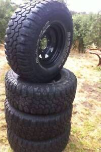 "Set of 31"" Maxxis Bighorn Muddies. Tyres and Rims brand new 2016 Tootgarook Mornington Peninsula Preview"