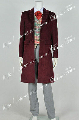 Doctor Who Cosplay The 4th Fourth Dr Tom Baker Costume Outfit Halloween  - Doctor Who Halloween Outfit