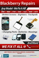 BLACKBERRY PHONES &  REPAIR, UNLOCKING AND SERVICE - BEST PRICES