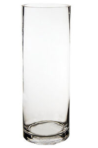 Cylinder Vase Glass Vases Wholesale H 14 Open Diameter 5