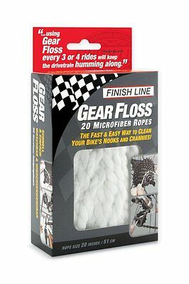 Finish Line Bike Bicycle Gear Floss Microfiber Ropes Cleaning Brush Tool New