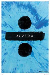 ED SHEERAN - DIVIDE ALBUM - MUSIC POSTER 24x36 - 34244