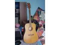 Ibanez AW-55 Acoustic Guitar fairly new strings very good condition sound amazing RARE GUITAR