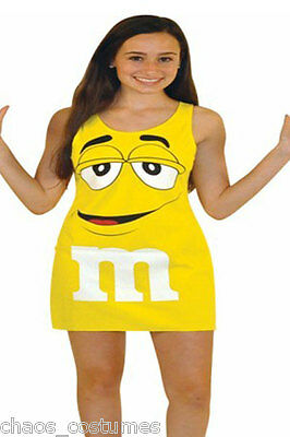 M&M Yellow Novelty Fun Tank Fantasy Halloween Costume Dress Medium 8 10 12 - Halloween Tank Dress