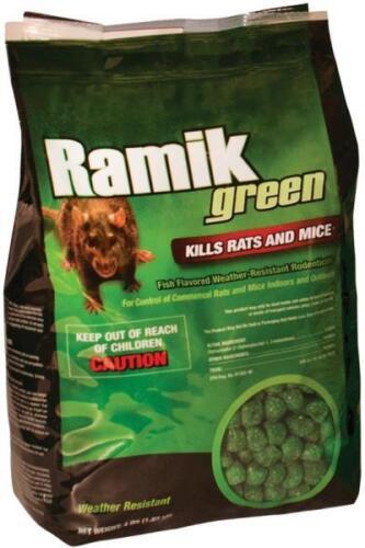 Ramik Green Poison  4 Lb (Mini Chunk) Fish flavored Rat / Mouse / Mice  bait