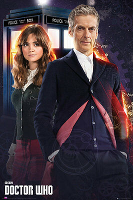 Poster The New DOCTOR WHO - Peter Capaldi - with Clara ca60x90cm NEU 58292