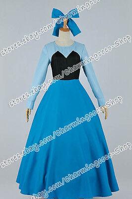 The Little Mermaid Cosplay Princess Ariel Costume Blue Dress Elegant Comfortable - Easy Mermaid Costume