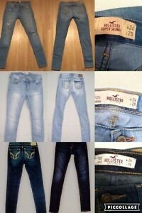 $20 for ALL 3 pairs Hollister jeans OS W 24 L 29