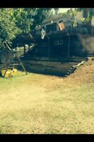 Landscaping Services, cement walkways, retaining walls
