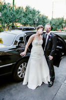 Beautiful A-line Taffeta Wedding Gown with Lace Up Back