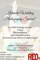 $400 Small Wedding Photography Special!
