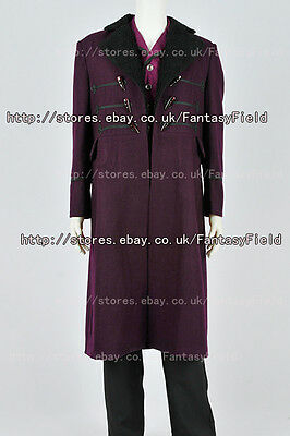 Dr Who 11 Kostüm (Doctor Brown Who Dr 11th Movie Costume Purple Trench Coat Halloween Halloween)