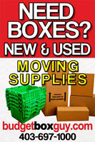 Are you moving? New & Used Boxes 403-697-1000