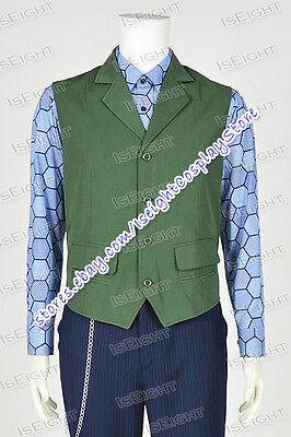 Cosplay Joker Costume Green Vest Hexagon Shirt High Quality Tailor Made (Green Joker Vest)