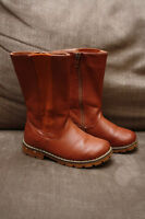 Girls Leather Boots - size 8