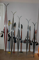 Cross country ski set Xc waxless skis 215 190 170 160 150 cm boo
