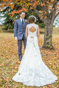 Lace Wedding Dress **Price Reduced!