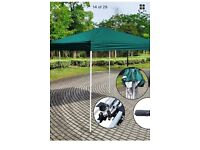 """New"" Green pop-up gazebo. 10ftx10ft."
