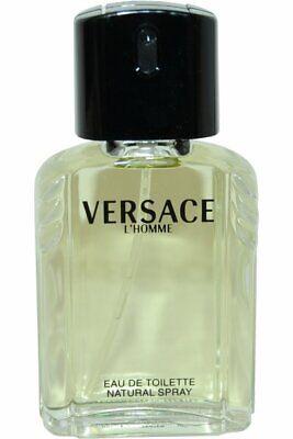 Versace L'Homme 100ml EDT Eau de Toilette Spray for Men - PLS READ FREE P&P