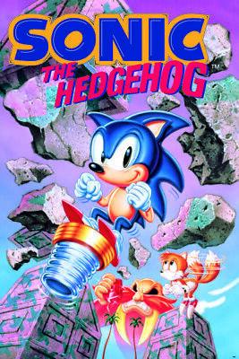 SONIC THE HEDGEHOG BREAK THROUGH ROCKS 24X36 POSTER VIDEO GAMES SEGA NINTENDO!!!
