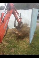 Stump grinding services 691-0116 insured