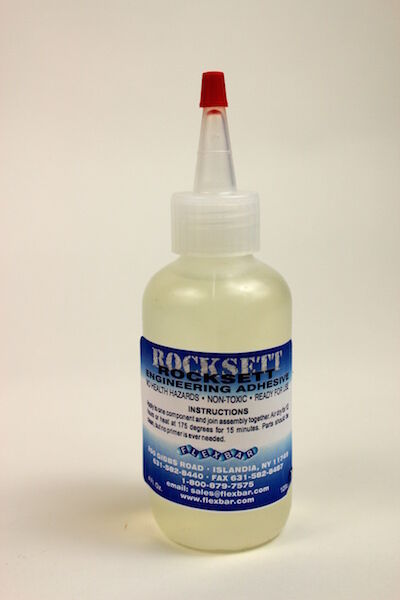 High-Temperature Rocksett, Adhesive Ceramic Cement - 4 oz. - #15015