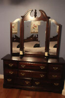 Solid wood dresser with mirror.  Great condition.