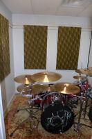 Drummer's practice room