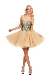 Champagne colour Grad/Prom teen dress