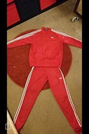 Exclusive red adidas tracksuit brand new