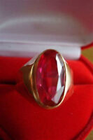 REGAL RED RUBY RING in ROSE GOLD