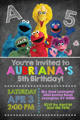 Sesame Street Invitations - Personalized - Birthday Party - Shipped or - Printable Birthday Party Invitations