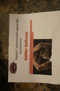 signed raptors basketball with certificate of authenticity London Ontario image 4