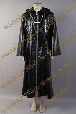 Kingdom Hearts Cosplay Costume Organization XIII 2-WAY-BIG-ZIPPER Coat Cloak - Kingdom Costumes