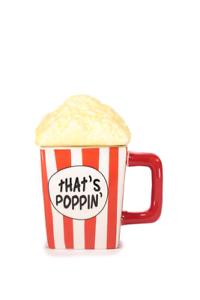 Novelty shaped mug - Popcorn mug with lid