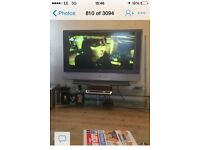 FREE Large glass tv stand FREEE