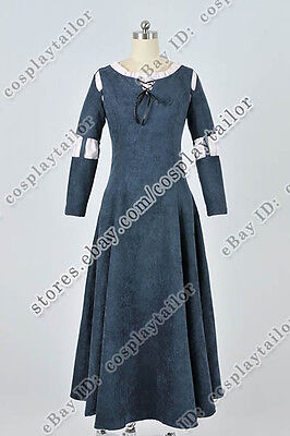 Brave Cosplay Merida Princess Costume Suede Dress Suitable For Daily Wear Party