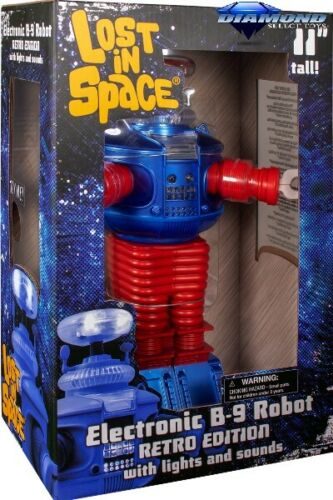 Diamond Select Toys Lost In Space Retro B9 Electronic Robot Figure New In Stock