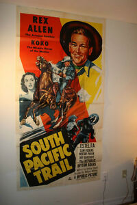South Pacific Trail- 1952 Original 3-sheet western movie poster