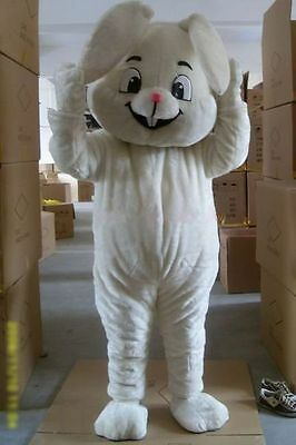 Christmas White Rabbit Mascot Costumes Adults Costume Cosplay For Festival Party - Christmas Party Costumes For Adults
