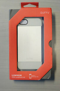 Quirky Silver Luminum iPhone 5/5S Case (New in Box)