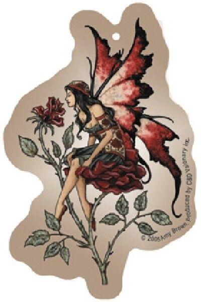 Amy Brown Rose Fairy Art Image Air Freshener NEW UNUSED SEALED