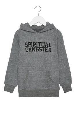 SPIRITUAL GANGSTER KIDS VARSITY PULLOVER HOODIE HEATHER GRAY NWOT (Gangster Kids)
