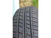 1 X Tyre 155/65/14 75t Radial tyre with 5mm tread (No punctures repairs)