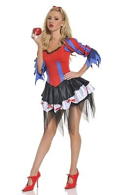 Womens Can Can Dancer Costume Princess Cancan Lady Fancy Dress Adult Small Med M (Can Costumes)