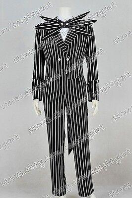 istmas Cosplay costume Jack Kostüm Schwarz-weiß Gestreift (Nightmare Before Christmas Kostüm)